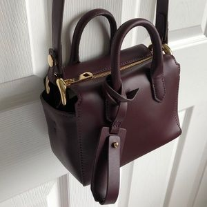 J. Crew Harper mini satchel in Italian leather